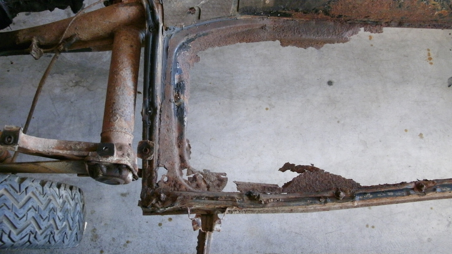 Initial Assessment Of The Chassis 171 My Beetle Restoration