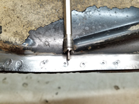 3/8-Inch Spot Weld Cutter and Shallow Holes Drilled for the Cutter's Pilot.